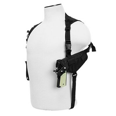 NcStar Vism Ambidextrous Shoulder Holster Horizontal Pistol& Magazine Holder BLK