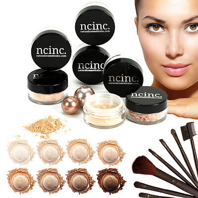 Mineral Makeup Set by NCinc. Minerals Foundation  x2 Shades Kit 14pc Bare Skin