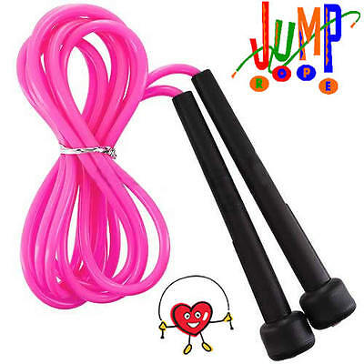 AUSTODEX SPEED ROPE BOXING SKIPPING JUMP CARDIO MMA SPORT WARM UP 3 Meter PINK