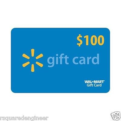 $100 Walmart Gift Card - FREE FAST SAME DAY PRIORITY SHIPPING