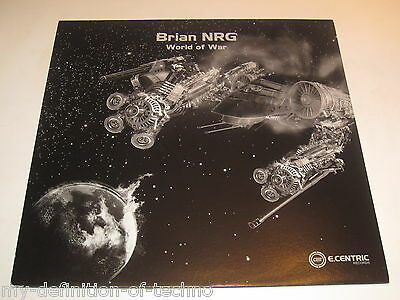 """Brian NRG, World Of War (E.Centric Records 005) 12"""" Hardstyle"""