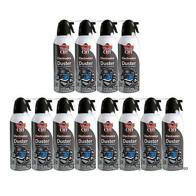 12 ct Falcon Dust-off Dustoff Compressed Air Duster 10 oz Clean Computer TV