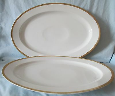 Paul Muller Selb Bavaria Gold Trim Pair of 2 different size Platters AS IS