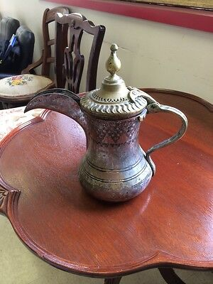 Brass Hand Forged Islamic Arabic Turkish Middle Eastern Copper Coffee Pot
