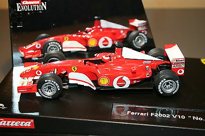 SCX Scalextric Slot Carrera 25706 Evolution Ferrari F2002 V10 Nº 1