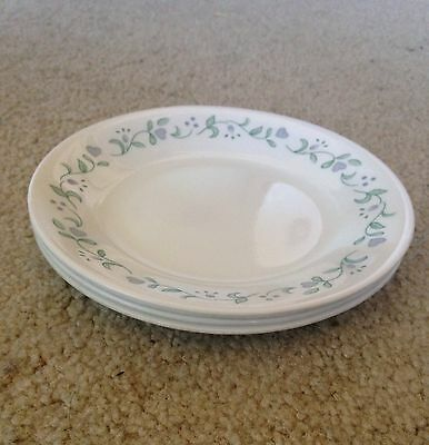 """Set of 4 Corelle/corning Country Cottage bread plates 6 3/4"""""""
