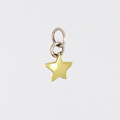 Brass Star Charm Pendant 925 Sterling Silver Far Fetched Artisan Taxco