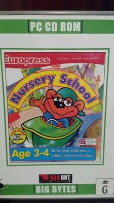 Nursery School Ages 3-4 PC GAME