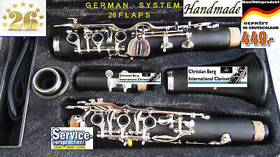Klarinette Vollsystem 26 Klappen  deutsches System German System  CLARINET 26 FL