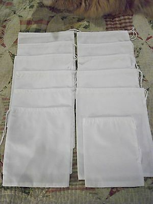 CIVIL WAR REPRODUCTION SET OF 12 ISSUE RATION BAGS~POKE BAGS~DITTY BAGS~WHITE