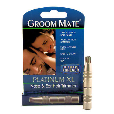 Famous Brand Nose & Ear Hair Trimmer - Platinum XL - Made in USA - Brand New!!