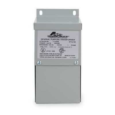 ACME ELECTRIC T253010S Transformer, 1 Phase, 1kVA, 120/240V Out