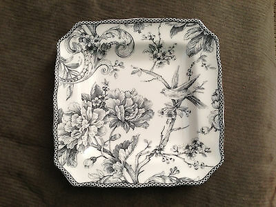 222 Fifth Adelaide Grey Salad Plate NEW