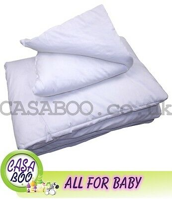 2-pc BEDDING-SET FILLED PILLOW QUILT DUVET for COT BED -120x90cm 135x100 NURSERY