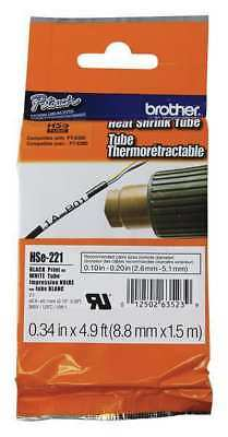 BROTHER HSE221 Shrink Tubing, ID, White,
