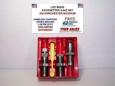 SHIPS PRIORITY INSURED LEE 90546 338 WINCHESTER MAGNUM  PACESETTER 3-DIE SET
