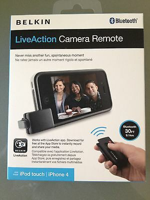 Belkin LiveAction Camera Remote for iPod iPhone Selfie remote BNIB RRP $49.95