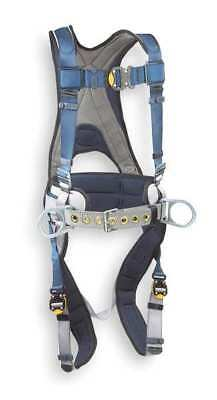 DBI-SALA 1108501 Full Body Harness, M, 420 lb., Blue/Gray