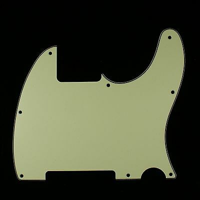 (E75) Telecaster Tele Esquire Style Guitar pickguard ,3ply Vintage Green
