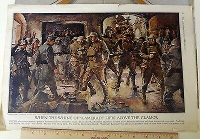 Mag. picture Dec. 1918 Ladies' Home Journal - painted by Frank Schoonover - WW1