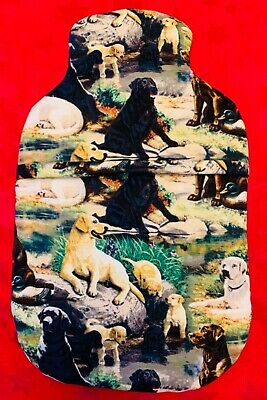 Various Dog Breeds Hot Water Bottle Cover  With Or Without Bottle Free Uk P&p
