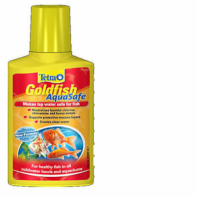 Tetra AquaSafe Aquarium Treatment Coldwater Tap Safe Conditioner Goldfish 100ml