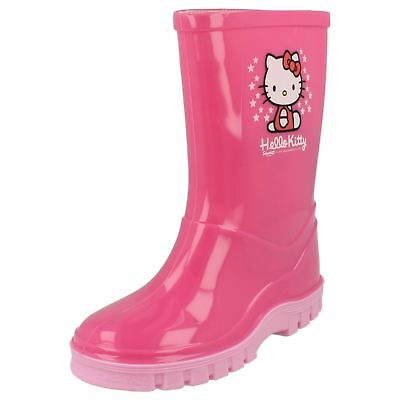 Girls Pink wellington boots   by HELLO KITTY £5.99