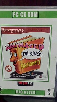 Animated Talking Dictionary PC GAME - FREE POST