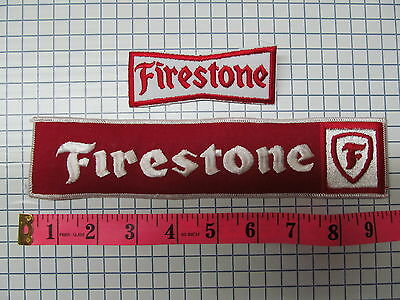 *** 2 OLD FIRESTONE RACING TIRE RACING PATCH LOT  ***