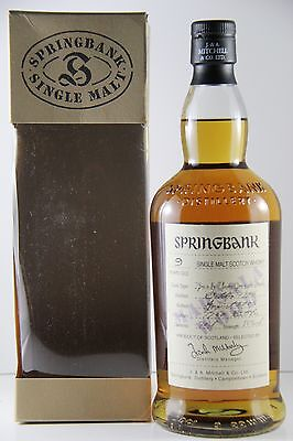 Springbank 9 year old Marsala Wood 58% 1996 Cask Strength Single Malt Scotch ...