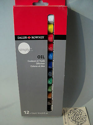 Daler Rowney Simply Oil Set of 12