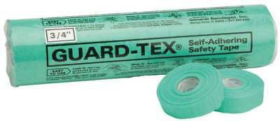 GUARD-TEX 41308-34 Safety Tape, Green, 3/4 x 30 yd. L, PK 16