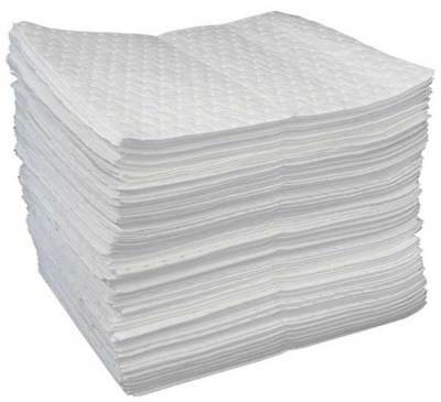 OIL-DRI L90812 Absorbent Pads, White, 19 x 15 In, PK100