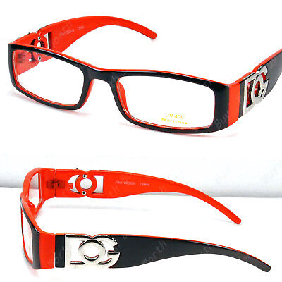 72285a3e89af New DG Clear Lens Frame Glasses Fashion Nerd Rectangular Designer Brown  Orange