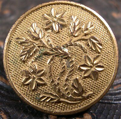GOLDEN AGE COAT BUTTON 24mm PRE CIVIL WAR LEVENWORTH SPENCER & SPERRY ~ EXTRA ~