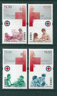 HK 2000 Red Cross set of 4 unmounted mint.
