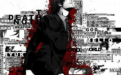 002 Death Note Japanese Animation Cartoon Anime POSTER A4 A3 BUY 2 GET 3RD FREE