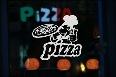 Pizza Takeaway Shop Removable Window Stickers Vinyl Wall Decal Business Decor