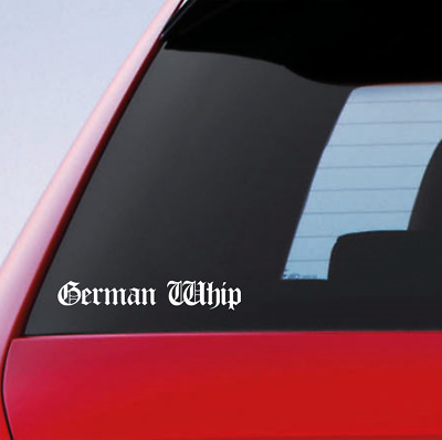 German Whip Silver Hologram Neo Chrome Funny Novelty Car Van Stickers Decal ref1