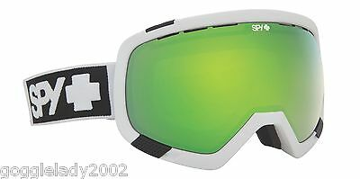 NEW IN BOX Spy PLATOON WHITE Snowboard Ski Goggle BRONZE/GREEN LENS + FREE BONUS
