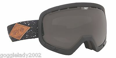 NEW IN BOX Spy PLATOON MIDNIGHT MAKEOUT Snowboard Ski Goggle DARK GREY LENS RARE