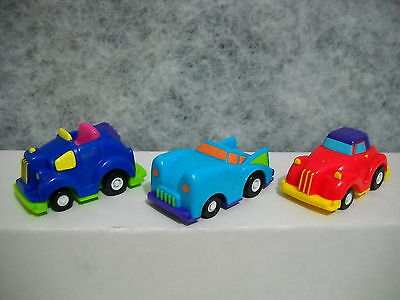 ~WENDY'S~1992~SPEED BUMPERS~LOT OF 3~PULL BACK-N-GO~LOT 2~