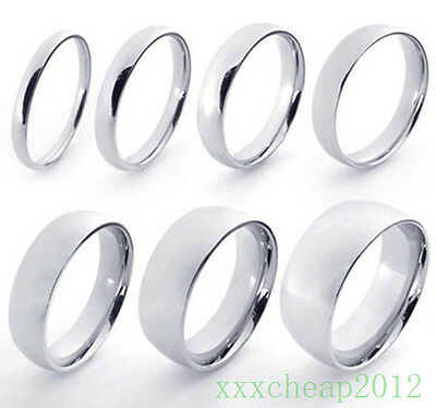 New Fashion Stainless Steel Hight Polished Couple Rings Gift A84