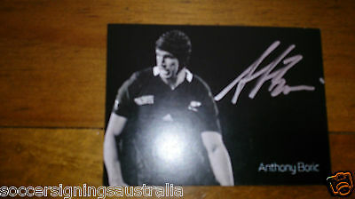 New Zealand All Blacks 2011 Personally Hand Signed Cards Mccaw, Carter, Williams