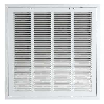 4MJT8 Return Air Filter Grille, 24x24 In, White