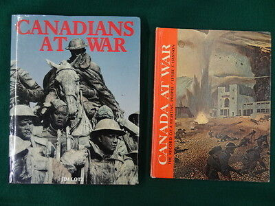 2 Books : Canadians At War & Canada At War - Hb -  Bk238