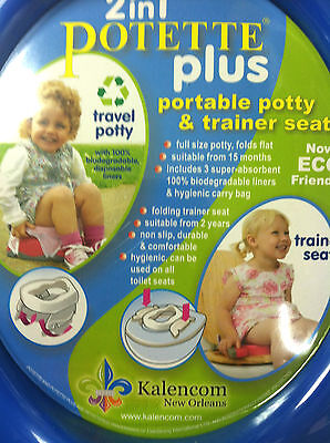 2 in 1 Potette plus portable potty and trainer seat