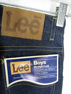 NWT Dead Stock Lee Jeans Straight Leg indigo rigid heavyweight denim 14S 25x30