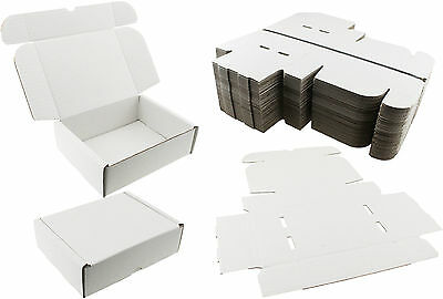 White Shipping Boxes Postal Mailing Gift Wedding Packet Small Parcel Cardboard