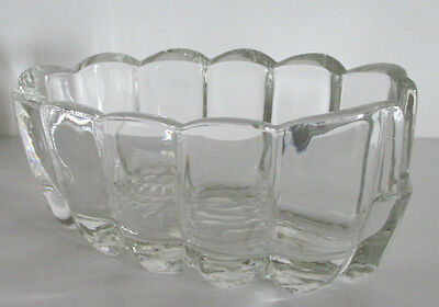 Spoon Rest Mule Shoe Design With Clear Glass Scalloped Edges